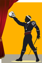 Hamlet With A Skull In His Hand