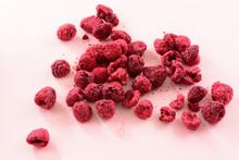 Pile Of Freeze Dried Red Raspb...