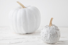 Halloween Background Of White ...