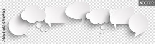 Obraz sticker speech bubbles with shadow - fototapety do salonu