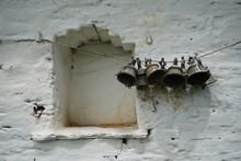 Old Vintage Bells Hanging On A...