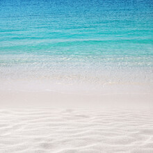 Beach And Turquoise Sea Backgr...