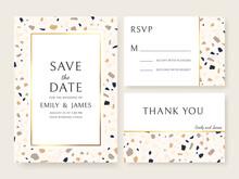 Terrazzo Wedding Invitation Ca...
