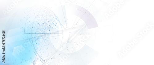 Obraz abstract technology communication concept vector background - fototapety do salonu