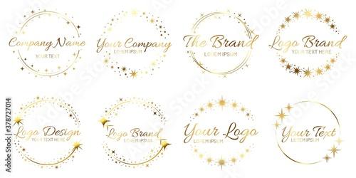 Fotografía Stardust golden logo set