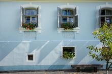Old  Blue House In Romania Bra...