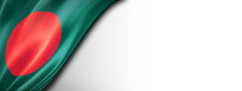 Bangladesh Flag Isolated On White Banner