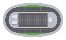 Nascar Track. Top View.