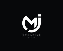 Professional And Minimalist Letter MJ Logo Design, Editable In Vector Format
