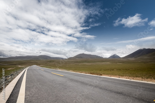 beautiful road on plateau