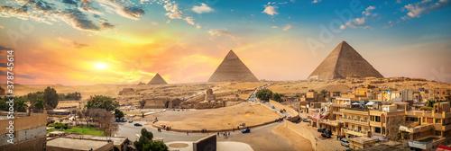 Fototapeta Panorama of Giza