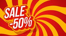Sale 50 Off Typography Vector ...