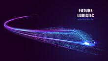 Digital Low Poly Wireframe Of ...