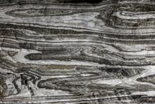Abstract Gray Texture Of Natural, Raw Salt In An Underground Salt Mine