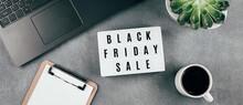 Black Friday Sale Word On Ligh...