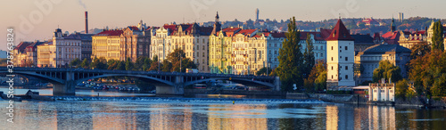 Prague at sunrise Wallpaper Mural
