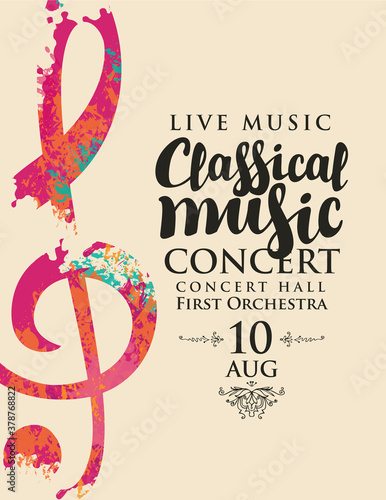 Fotografia Poster for a live classical music concert