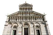 Main Facade Of The Pisa Cathed...