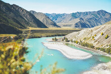 View Of The Turquoise River Ka...