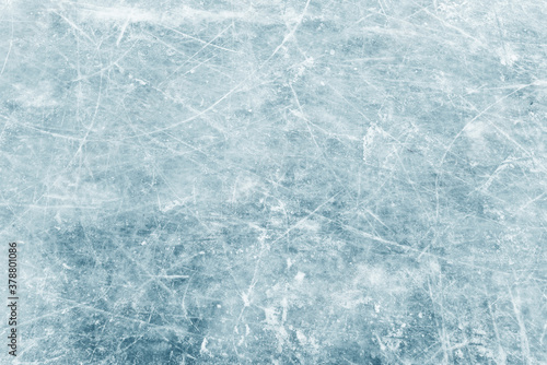 Natural texture of winter ice, blue ice as background Canvas