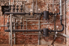 Old Industrial Heating System