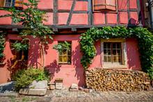 Dans Le Village De Eguisheim