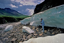 Melting Blackstone River Ice, Dempster Highway, Yukon Territory, Canada