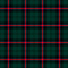 MacDonald Of The Isles Hunting Modern Tartan Seamless Pattern - Repeating Pattern Design Of Hunting Modern Tartan