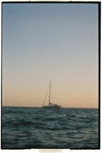 Boat Sunset Analogic Photography