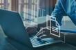 canvas print picture document management concept, online documentation database