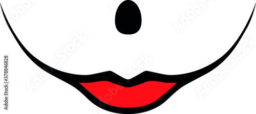 Evil clown Girl woman Clown Face Smile female smiling / Girl Creepy clown or horror woman clown, clown horror smiley face Canvas-taulu