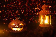 Head Jack Pumpkin And Lantern ...