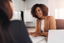 Young Woman Doing A Job Interview