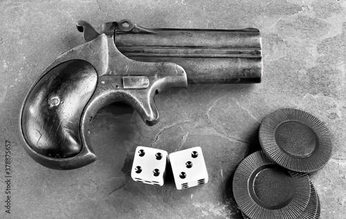 Antique Derringer Pistol made around 1865.. Canvas Print