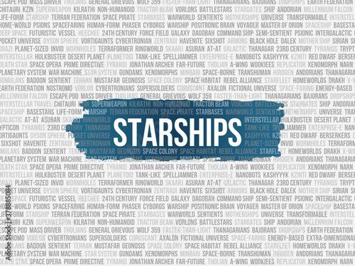 Fotomural starships