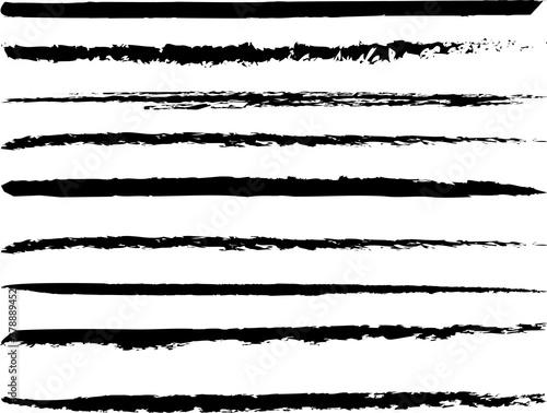 Fototapeta 年賀状和風、和柄筆文字ライン obraz
