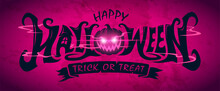 Happy Halloween Text Banner De...