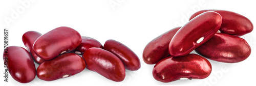 Red bean isolated on white background Fototapet