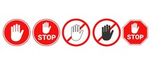 Hand Forbidden Vector Sign. St...