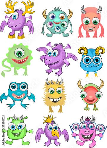 Cuadros en Lienzo Cartoon monster