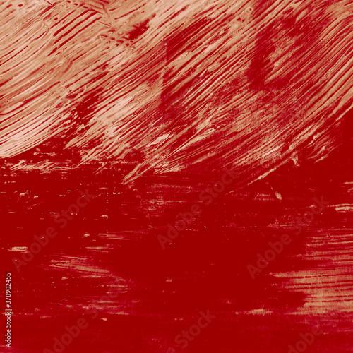 Abstract Red, Burgundy Gouache Stroke. Crimson Canvas Print