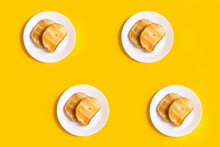 Yellow Background With Food, T...