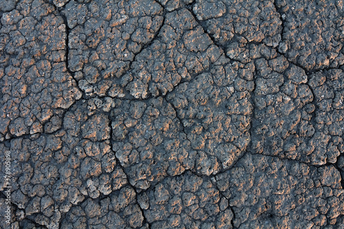 Fototapeta closeup dry cracked land, natural background