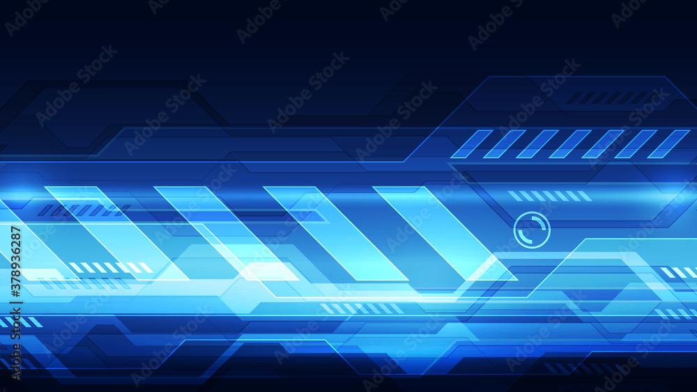 Fototapeta Vector Abstract futuristic technology background concept, Illustration high digital