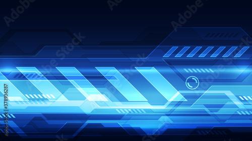 Obraz Vector Abstract futuristic technology background concept, Illustration high digital - fototapety do salonu