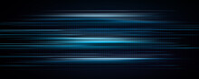 Abstract Blue Light Trails In...