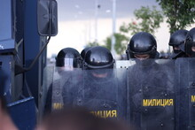 Police Of Belarus At Mass Protests