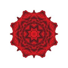 Love Story Red Heart Mandala