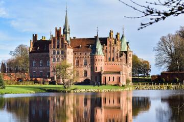 Egeskov castle on Fyn, Denmark, taken during the winter