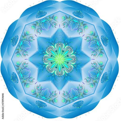 Gray blue airy fairy mandala Canvas Print